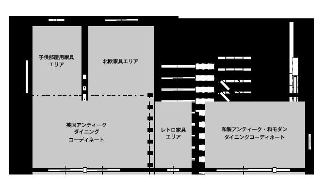 家具展示場 見取り図
