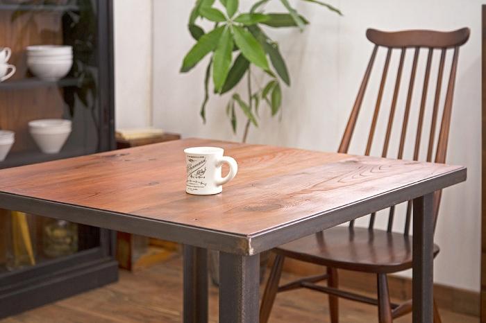古材 鉄脚テーブル