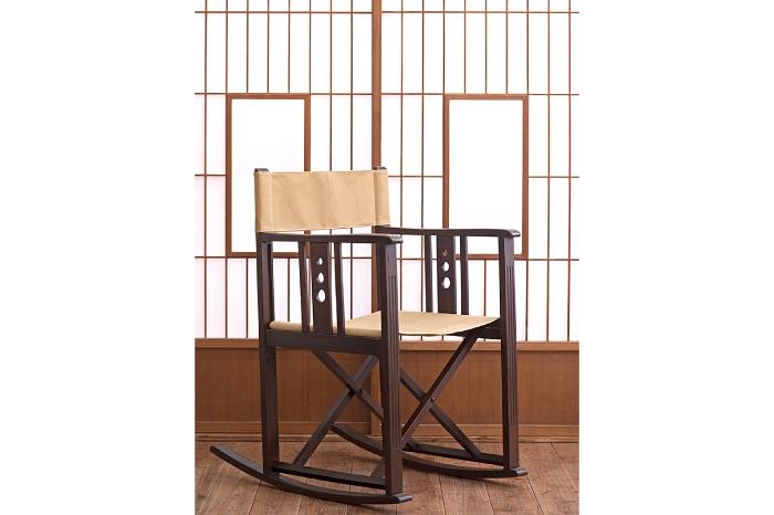 山葉文化椅子 ロッキングチェア 障子