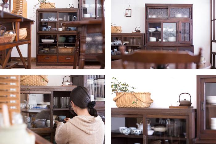 アンティーク収納棚 飾り棚
