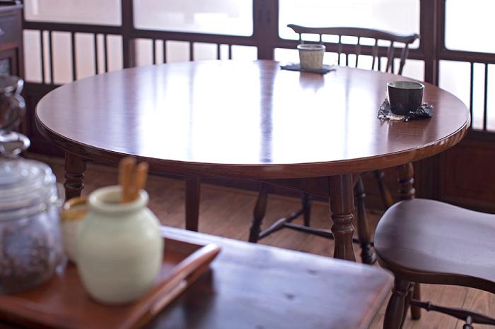 ラウンドテーブル 木製 ダイニング