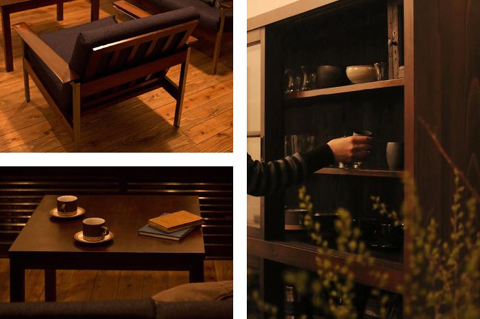 北欧ヴィンテージソファ センターテーブル ティーカップ ホーンジー 和製飾り棚