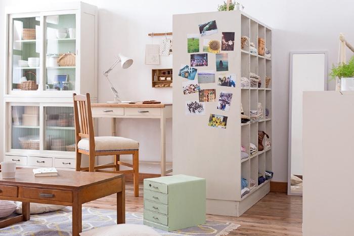 ワンルームを広く見せる「白」を基調とした一人暮らしの可愛いお部屋