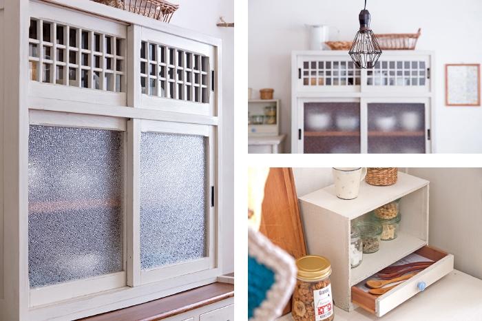 格子 建具 食器棚 収納棚