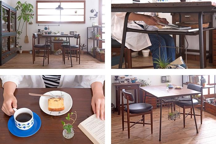 鉄脚テーブル ダイニングテーブル
