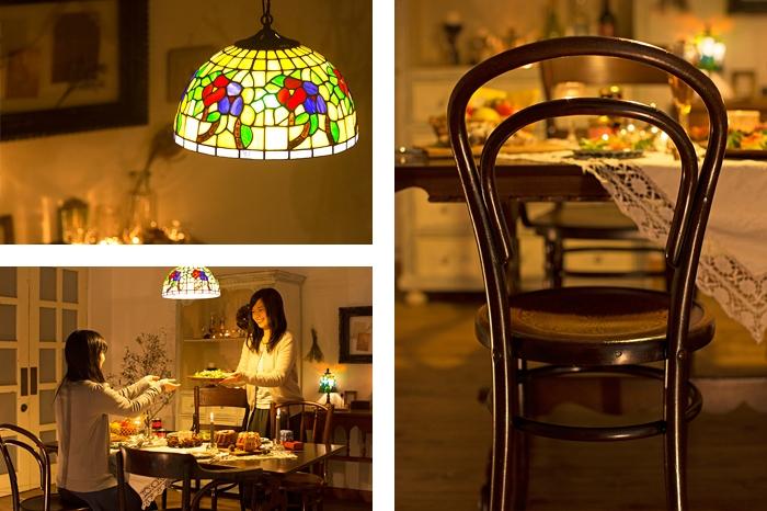 アンティークベントウッドチェア クリスマスのテーブルコーディネート