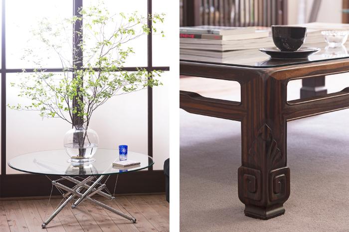 ガラス天板 テーブル