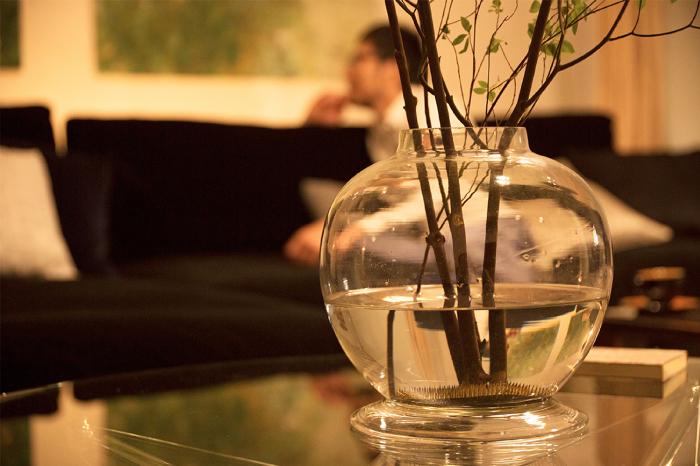ガラス瓶 植物