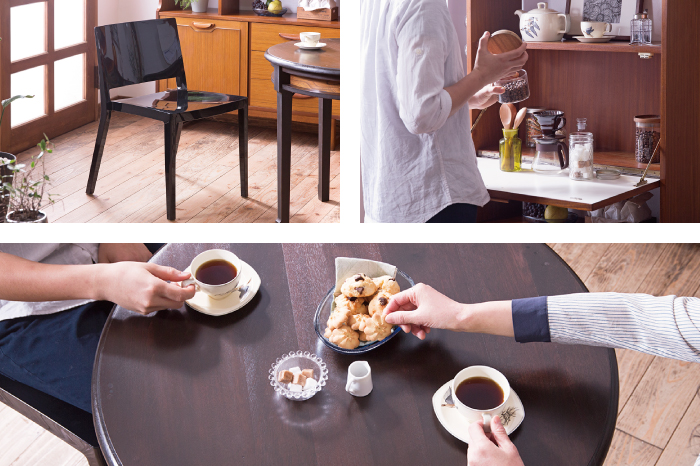 カフェテーブル ダイニングチェア コーヒータイム