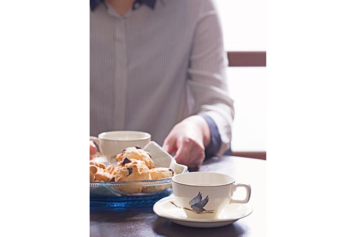 ビンテージ食器のコーディネート ティータイム
