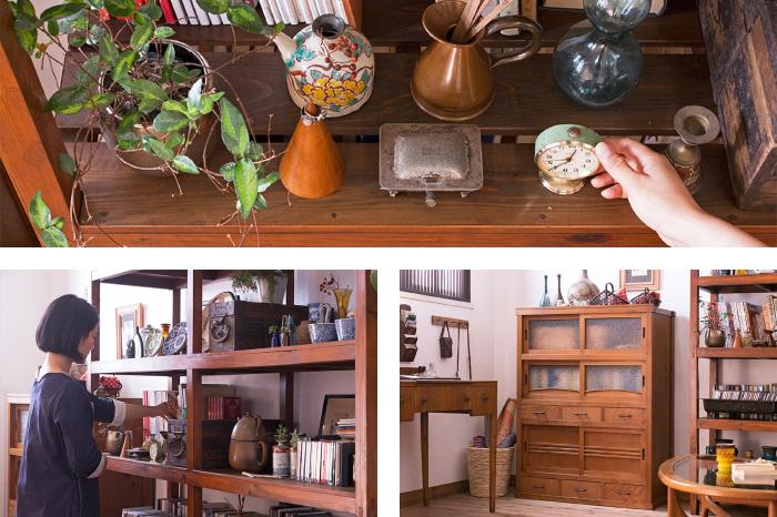 アンティーク雑貨 収納棚 水屋箪笥
