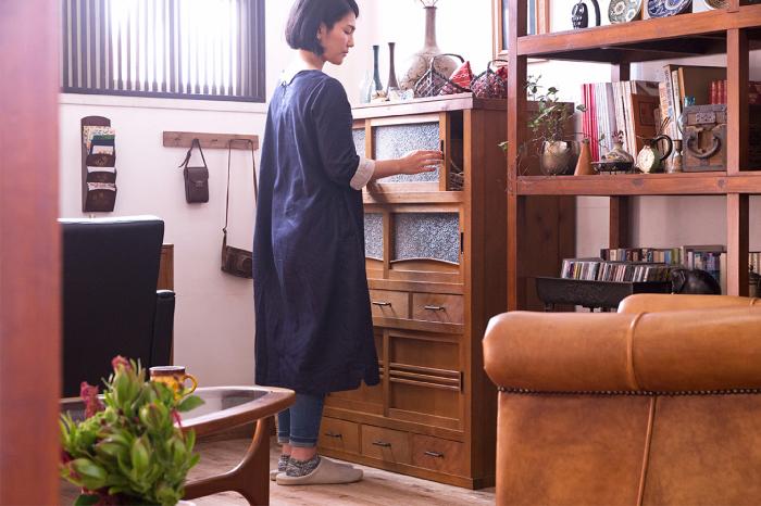 アンティーク 時代箪笥 収納棚
