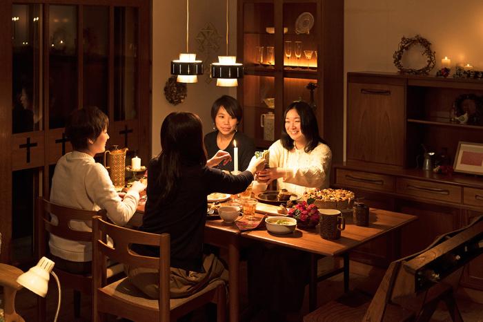 クリスマスパーティ インテリア おもてなし料理