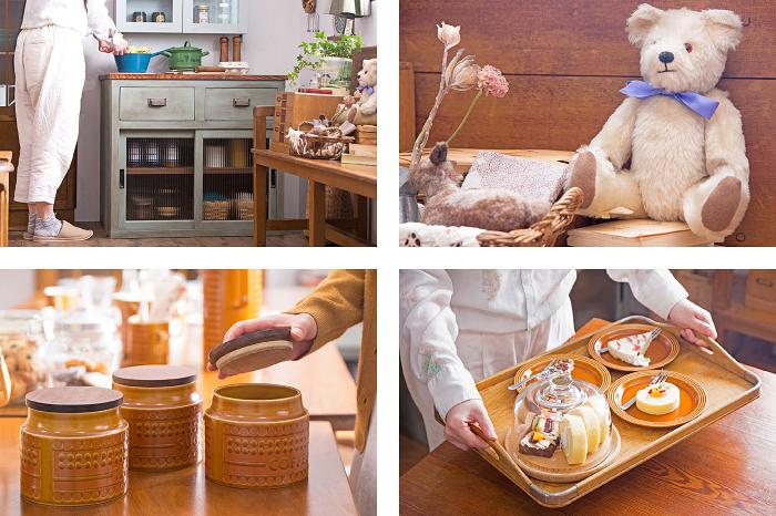 アンティークペイント作業台 レトロ ビンテージ食器