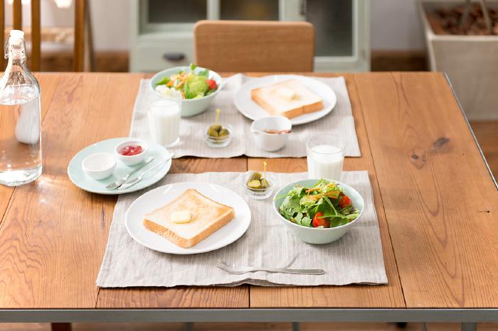 テーブルコーディネート 朝食