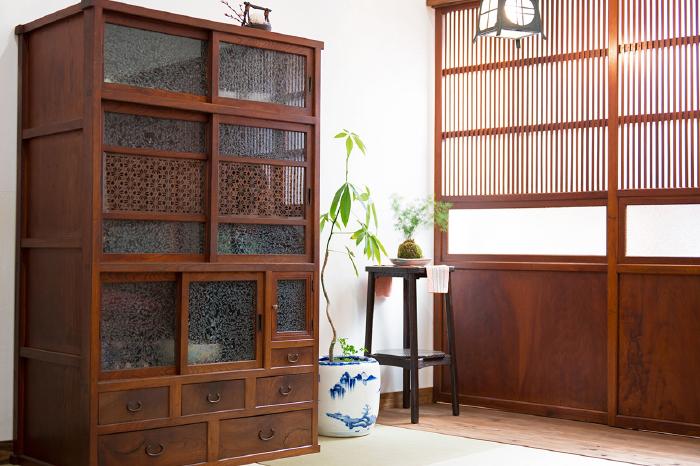 食器棚 組子模様 和家具