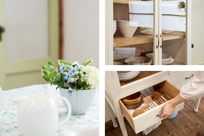 白 ペイント家具