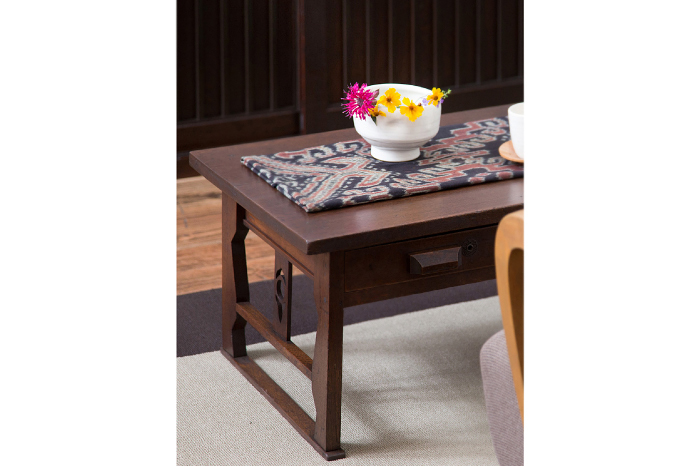 文机 ローテーブル 透かし彫り
