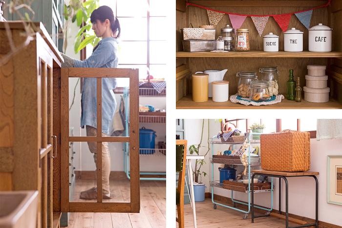 戸棚 キッチン収納 アンティーク