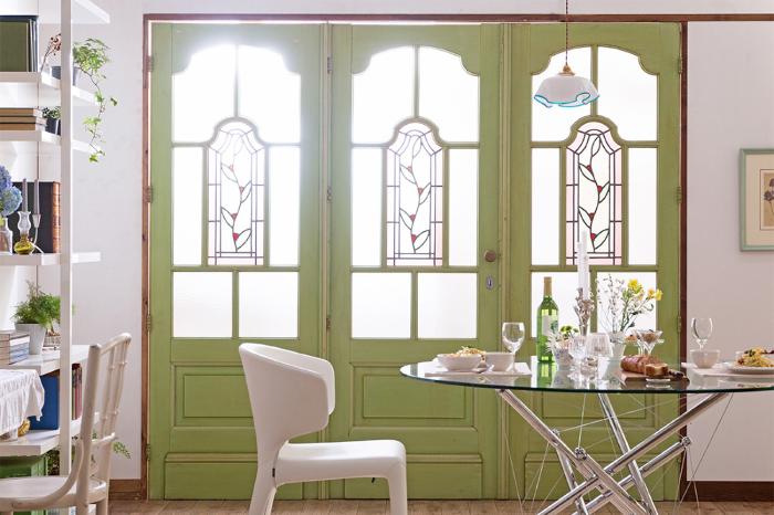 イギリスアンティーク ステンドグラス ドア