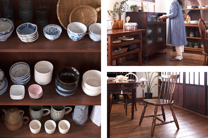 キッチン 収納 アンティーク家具