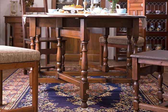 ゲートレッグテーブル アンティーク ダイニングテーブル