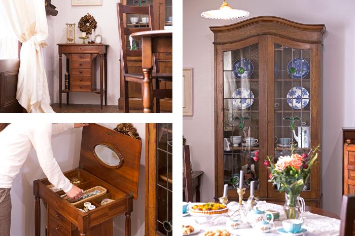 イギリスアンティーク キャビネット 食器棚