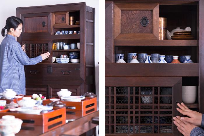 食器棚 アンティーク 帳場箪笥