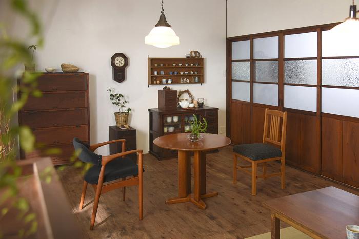 レトロダイニング 和家具 コーディネート