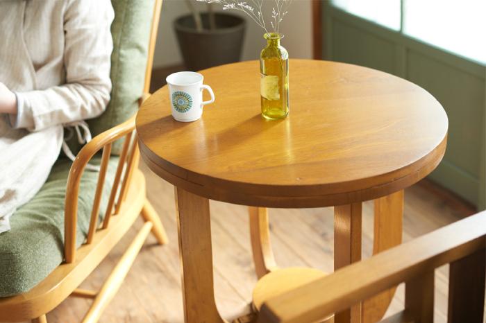 レトロ サイドテーブル 木製