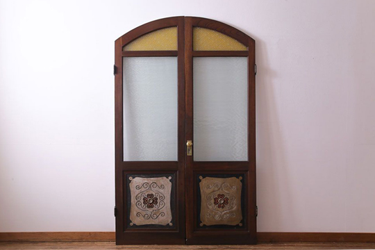 玄関ドア 木製 アンティーク