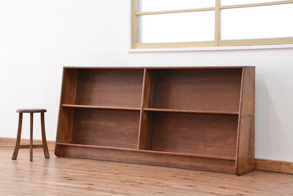 棚の上にはランドセルを置いて、棚にはピアニカ、教科書を、真ん中の引き出しには文房具なども収納できます。本類を立てかけると棚が斜めになっているので、真ん中に  ...
