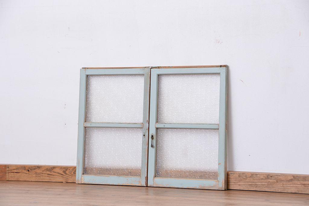お部屋の印象を左右する。アンティーク引き戸のガラスの種類に注目