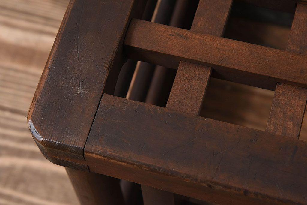 アンティーク雑貨 和製アンティーク 透かし彫り!古い木の ...