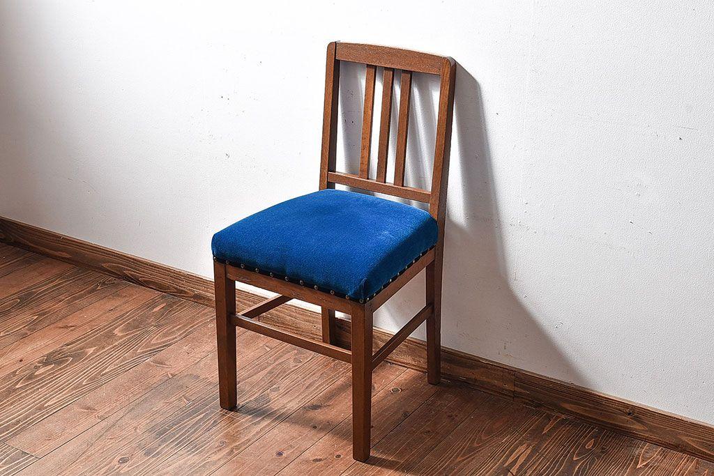 レトロ家具 昭和レトロ 小ぶりな木製ダイニングチェア(椅子、イス ...