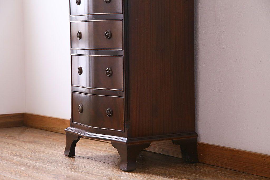82ddf80eb1 ... アンティーク家具 イギリス製 マホガニー材 上質な雰囲気のチェスト(サイドチェスト、引き出し ...