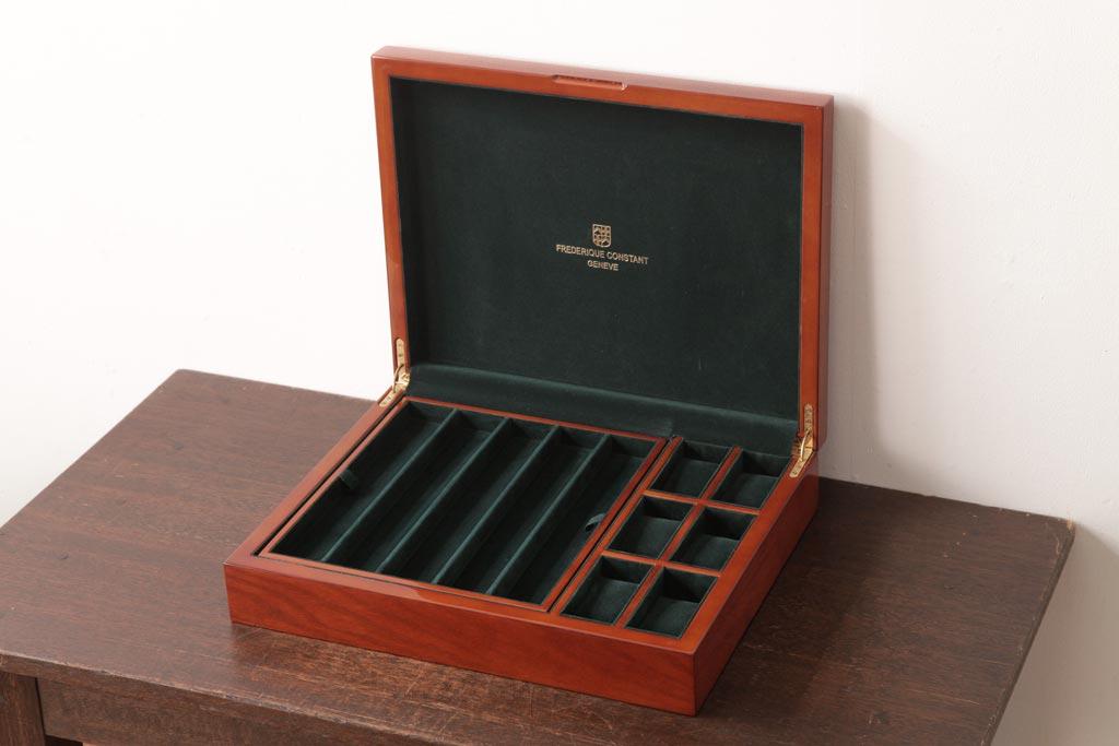 competitive price 1ccd7 529b3 アンティーク雑貨 中古 スイス FREDERIQUE CONSTANT(フレデリック・コンスタント)  桜材製の上品なウォッチケース(収納箱、アクセサリーケース)