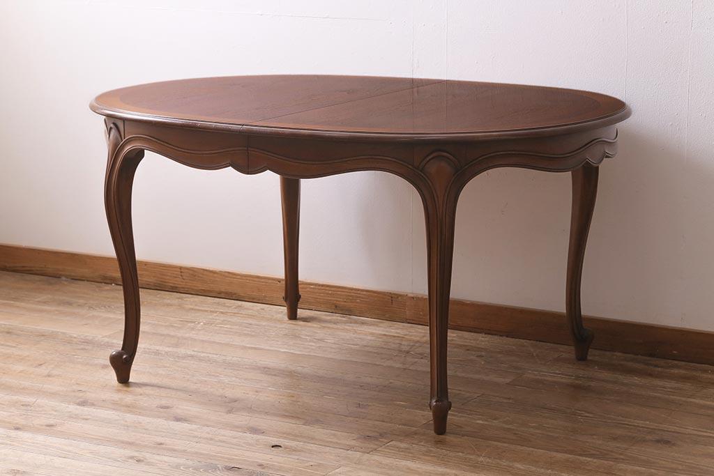 天板も使い方も広がる!アンティークのドロップリーフテーブルが便利