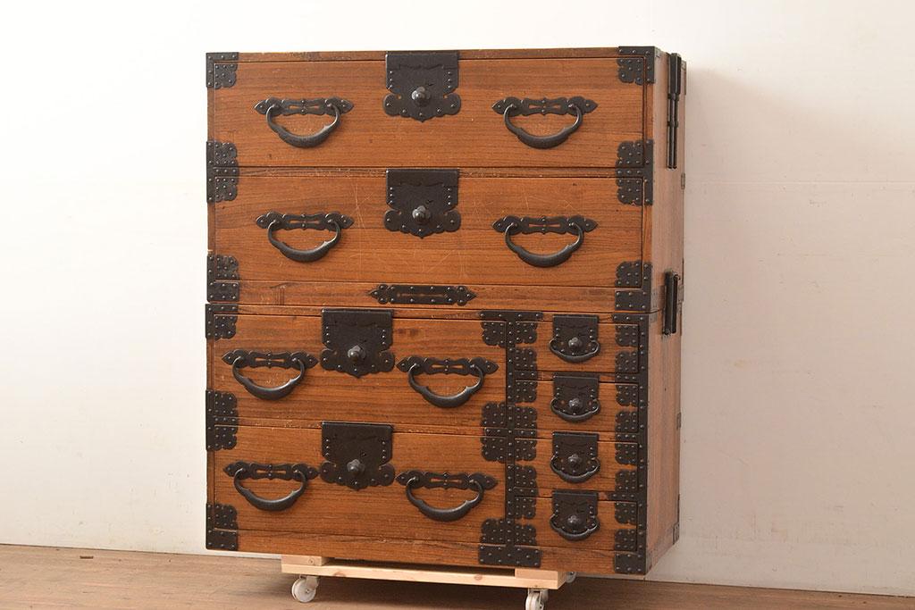 小物整理も仕切りで賢く!アンティーク箪笥&引き出しのステキ収納術